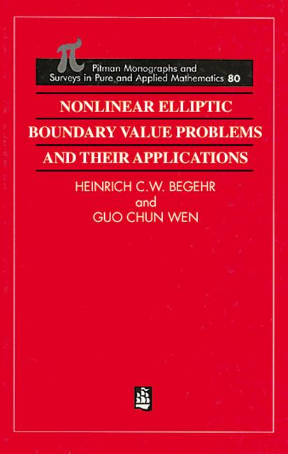 Nonlinear Elliptic Boundary Value Problems and Their Applications: 1st Edition (Hardback) book cover