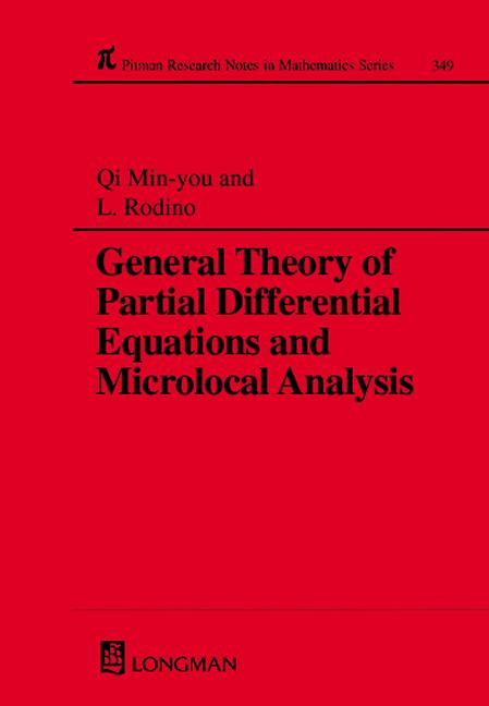 General Theory of Partial Differential Equations and Microlocal Analysis: 1st Edition (Hardback) book cover
