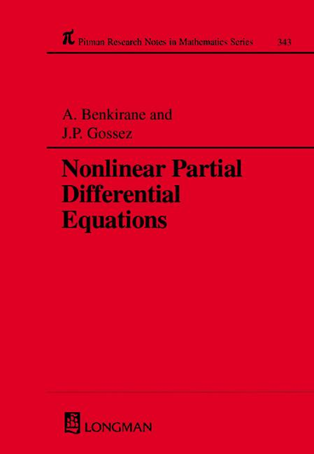 Nonlinear Partial Differential Equations: 1st Edition (Hardback) book cover