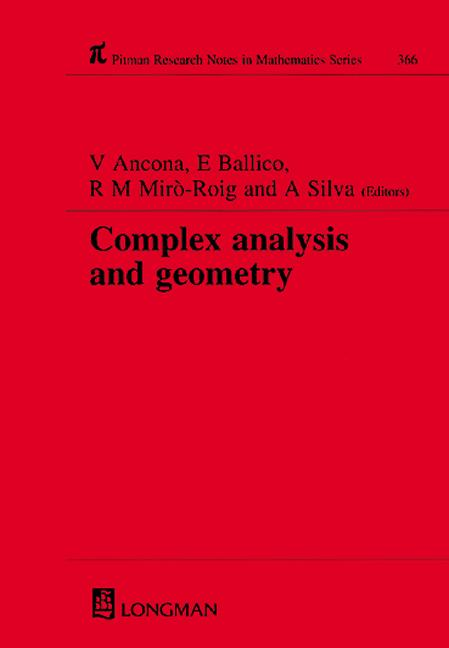 Complex Analysis and Geometry: 1st Edition (Hardback) book cover