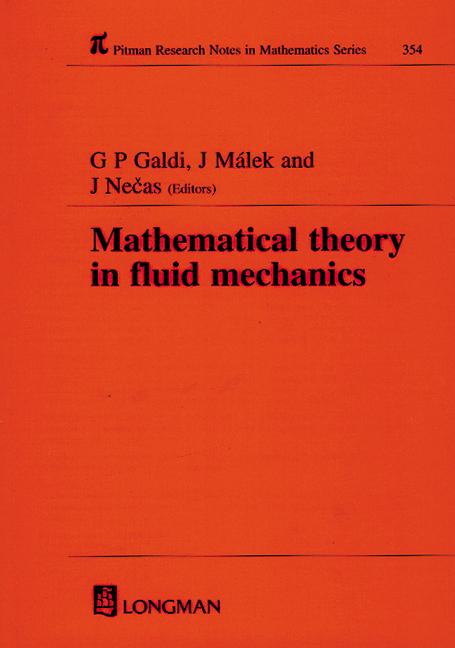 Mathematical Theory in Fluid Mechanics: 1st Edition (Hardback) book cover