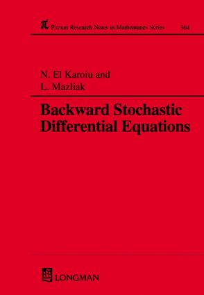 Backward Stochastic Differential Equations: 1st Edition (Hardback) book cover