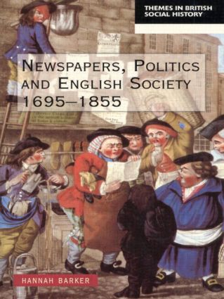Newspapers and English Society 1695-1855: 1st Edition (e-Book) book cover
