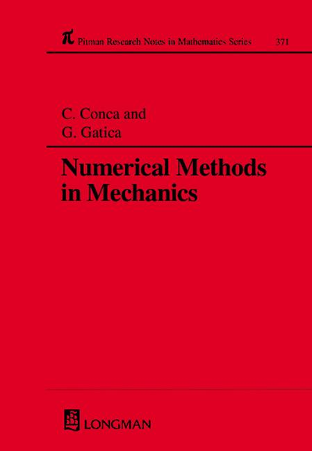 Numerical Methods in Mechanics: 1st Edition (Hardback) book cover