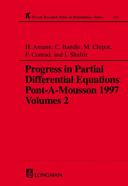 Progress in Partial Differential Equations: Pont-A-Mousson 1997, Volume 383, 1st Edition (Hardback) book cover