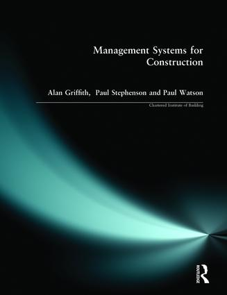 Management Systems for Construction: 1st Edition (Paperback) book cover