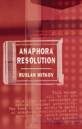 Anaphora Resolution: 1st Edition (Paperback) book cover