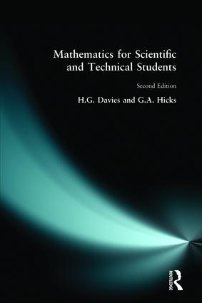 Mathematics for Scientific and Technical Students: 2nd Edition (Paperback) book cover