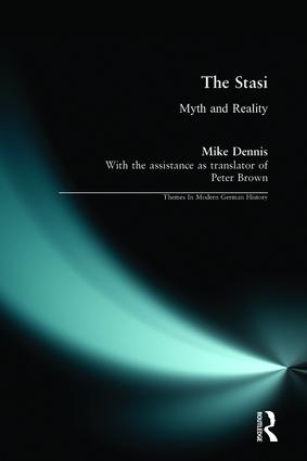 The Stasi: Myth and Reality, 1st Edition (Paperback) book cover