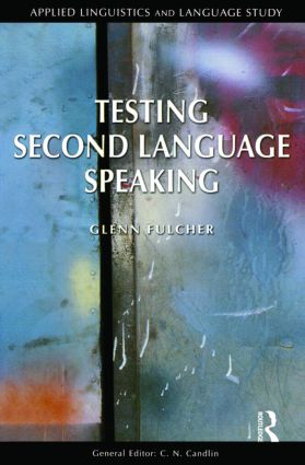 Testing Second Language Speaking book cover