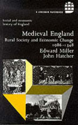 Medieval England: Rural Society and Economic Change 1086-1348 book cover