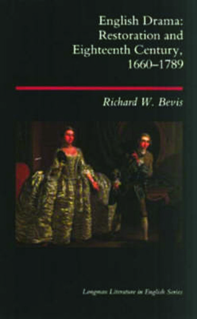 English Drama: Restoration and Eighteenth Century 1660-1789, 1st Edition (Paperback) book cover