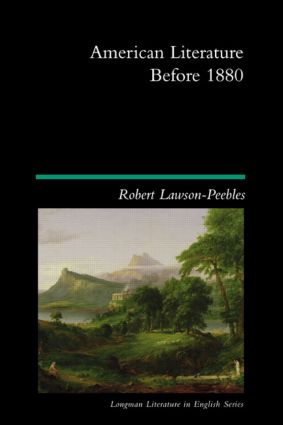 American Literature Before 1880: 1st Edition (Paperback) book cover