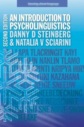 An Introduction to Psycholinguistics book cover