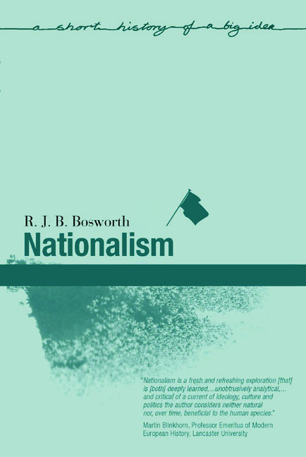 Nationalism: 1st Edition (Paperback) book cover