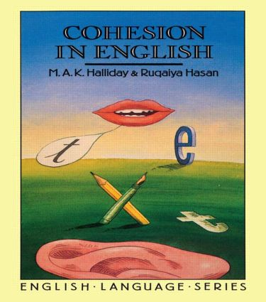 Cohesion in English: 1st Edition (Paperback) book cover