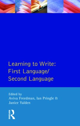 Learning to Write: First Language/Second Language, 1st Edition (Paperback) book cover
