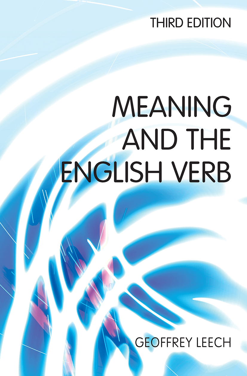 Meaning and the English Verb: 3rd Edition (Paperback) book cover