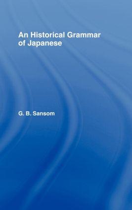 Historical Grammar of Japanese