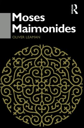 Moses Maimonides: 1st Edition (Paperback) book cover