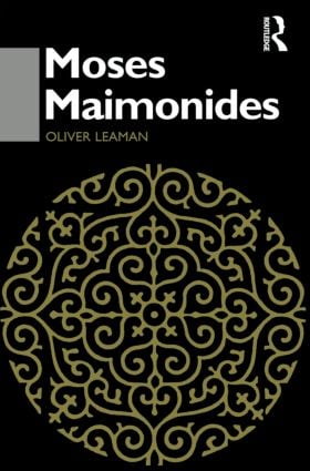 Moses Maimonides (Paperback) book cover