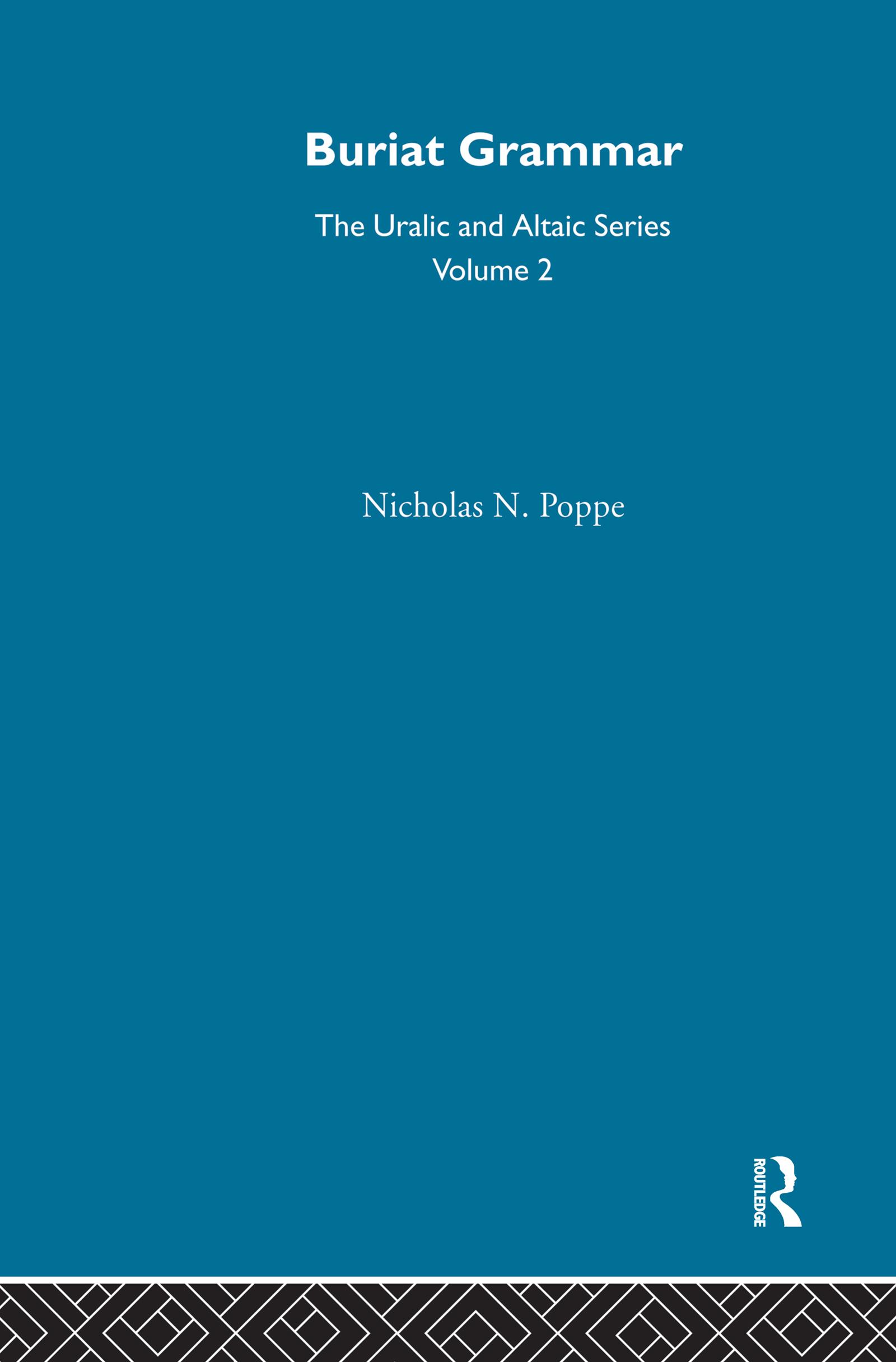 Buriat Grammar (Hardback) book cover