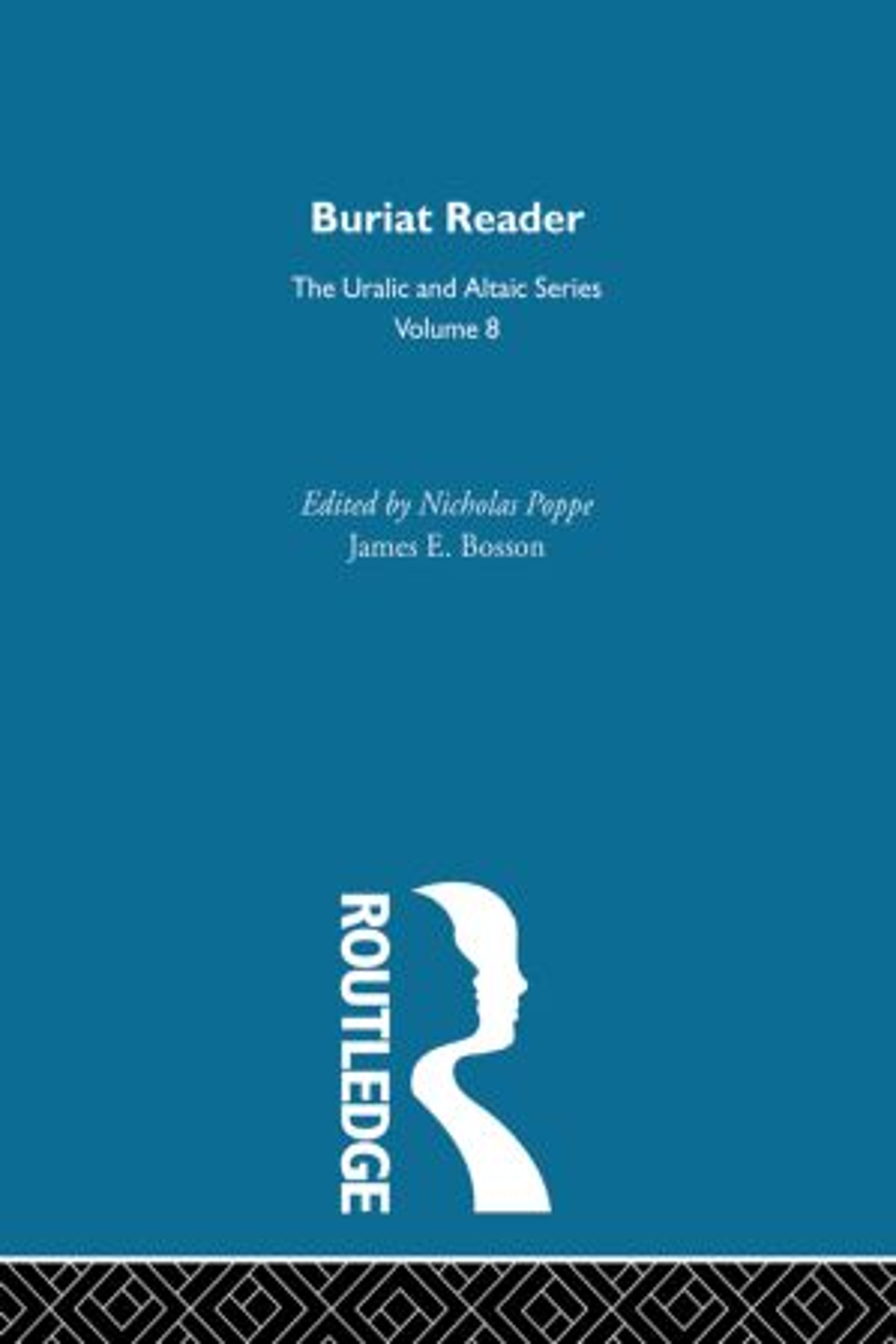 Buriat Reader: 1st Edition (Hardback) book cover