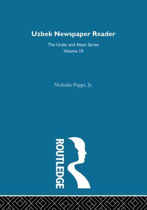 Uzbek Newspaper Reader: 1st Edition (Hardback) book cover