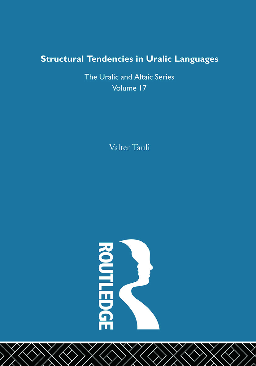 Structural Tendencies in Uralic Languages: 1st Edition (Hardback) book cover
