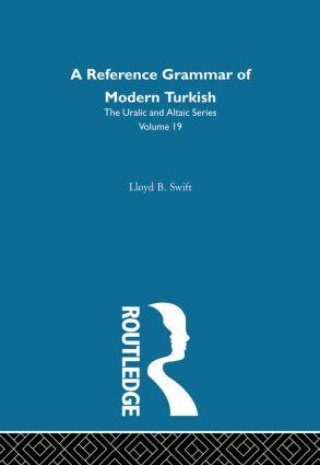 A Reference Grammar of Modern Turkish