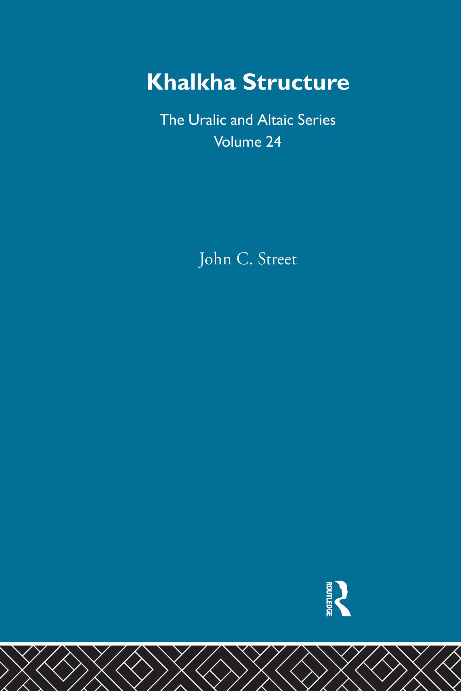 Khalkha Structure: 1st Edition (Hardback) book cover