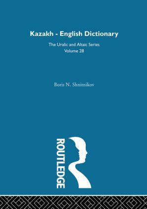 Kazakh-English Dictionary: 1st Edition (Hardback) book cover