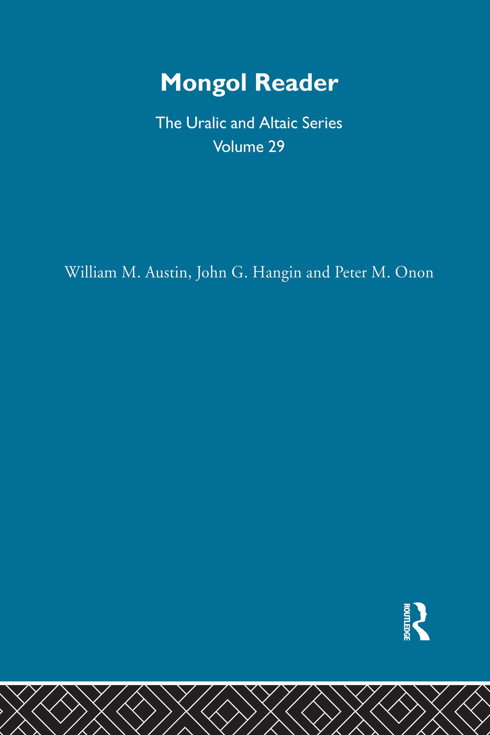 Mongol Reader: 1st Edition (Hardback) book cover