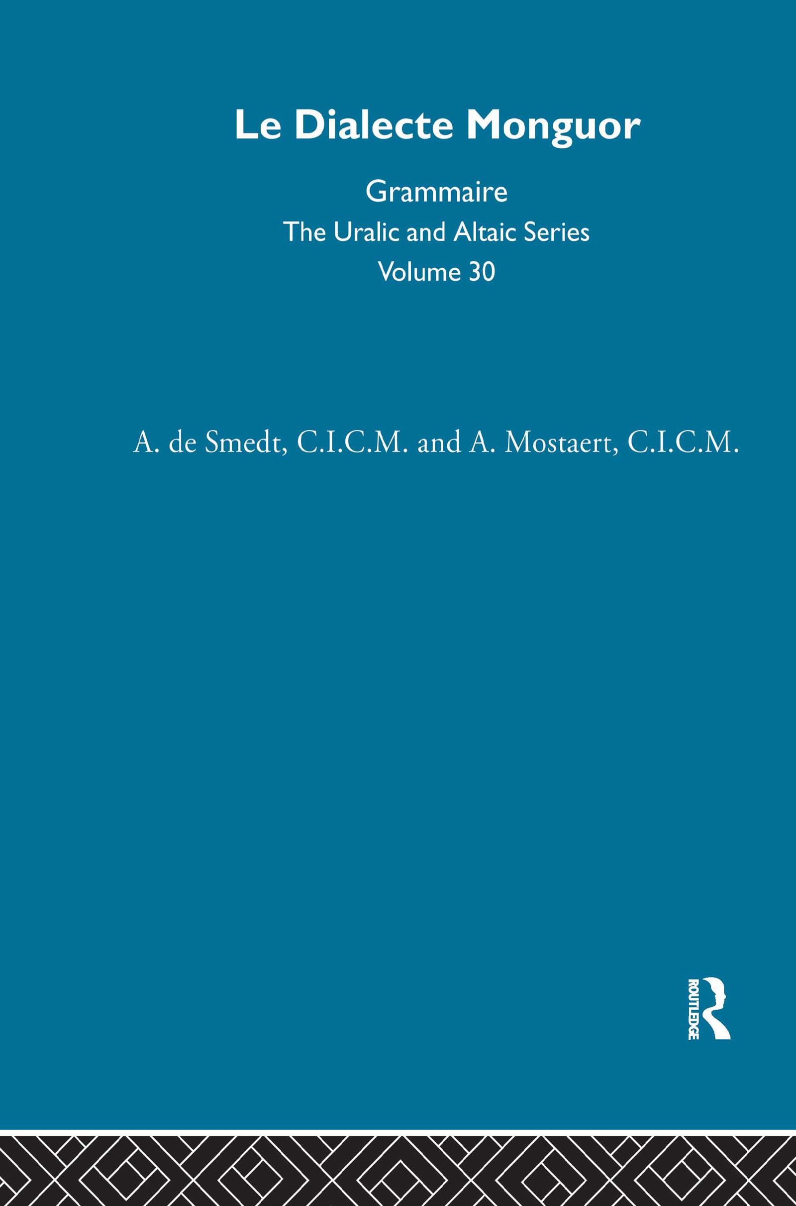 Le Dialecte Monguor (Hardback) book cover