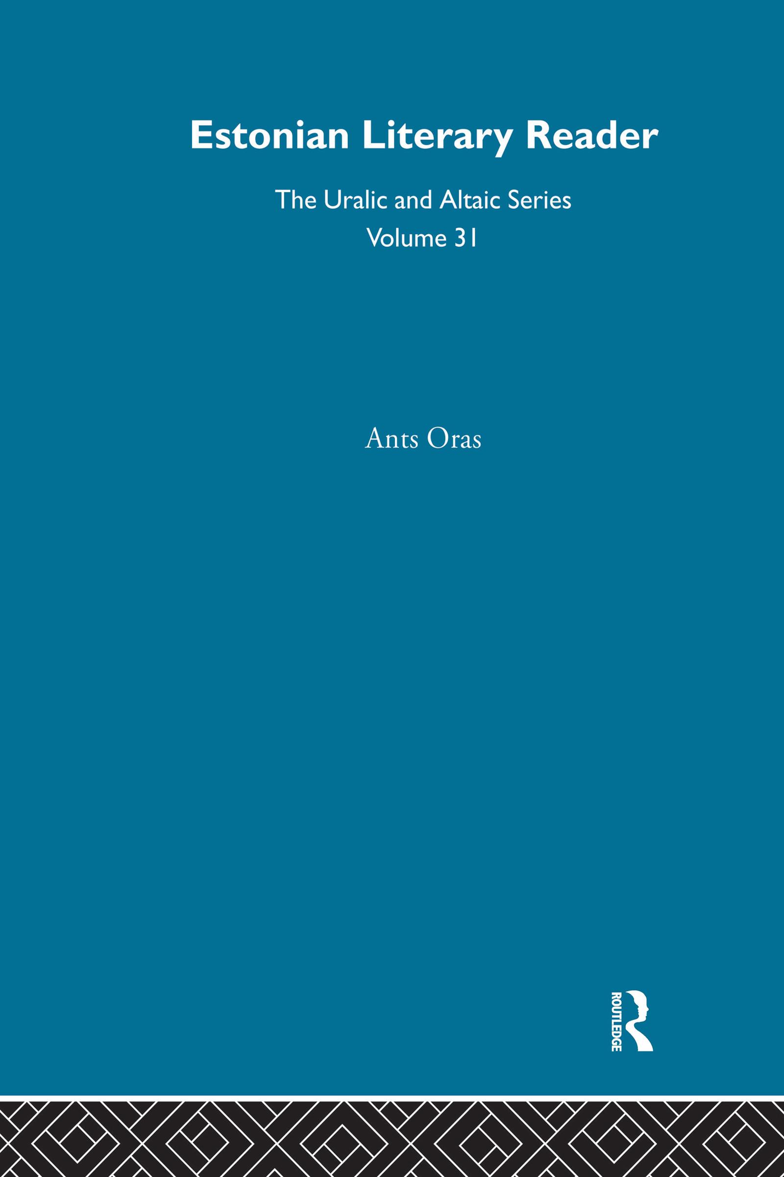Estonian Literary Reader: 1st Edition (Hardback) book cover