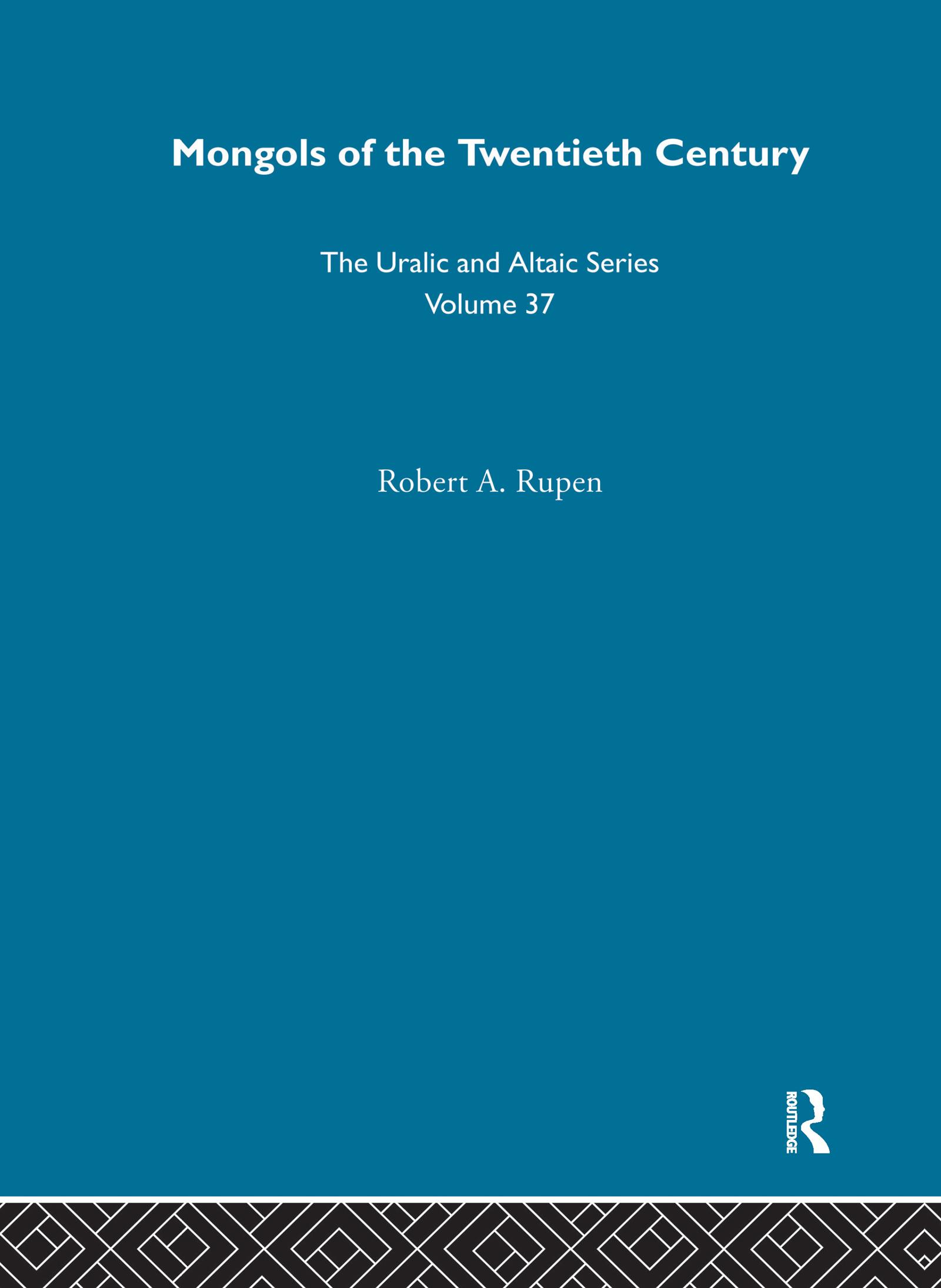 Mongols of the Twentieth Century (Hardback) book cover