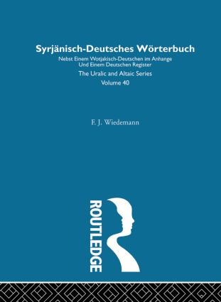 Syrjanisch-Deutches Worterbuch: 1st Edition (Hardback) book cover
