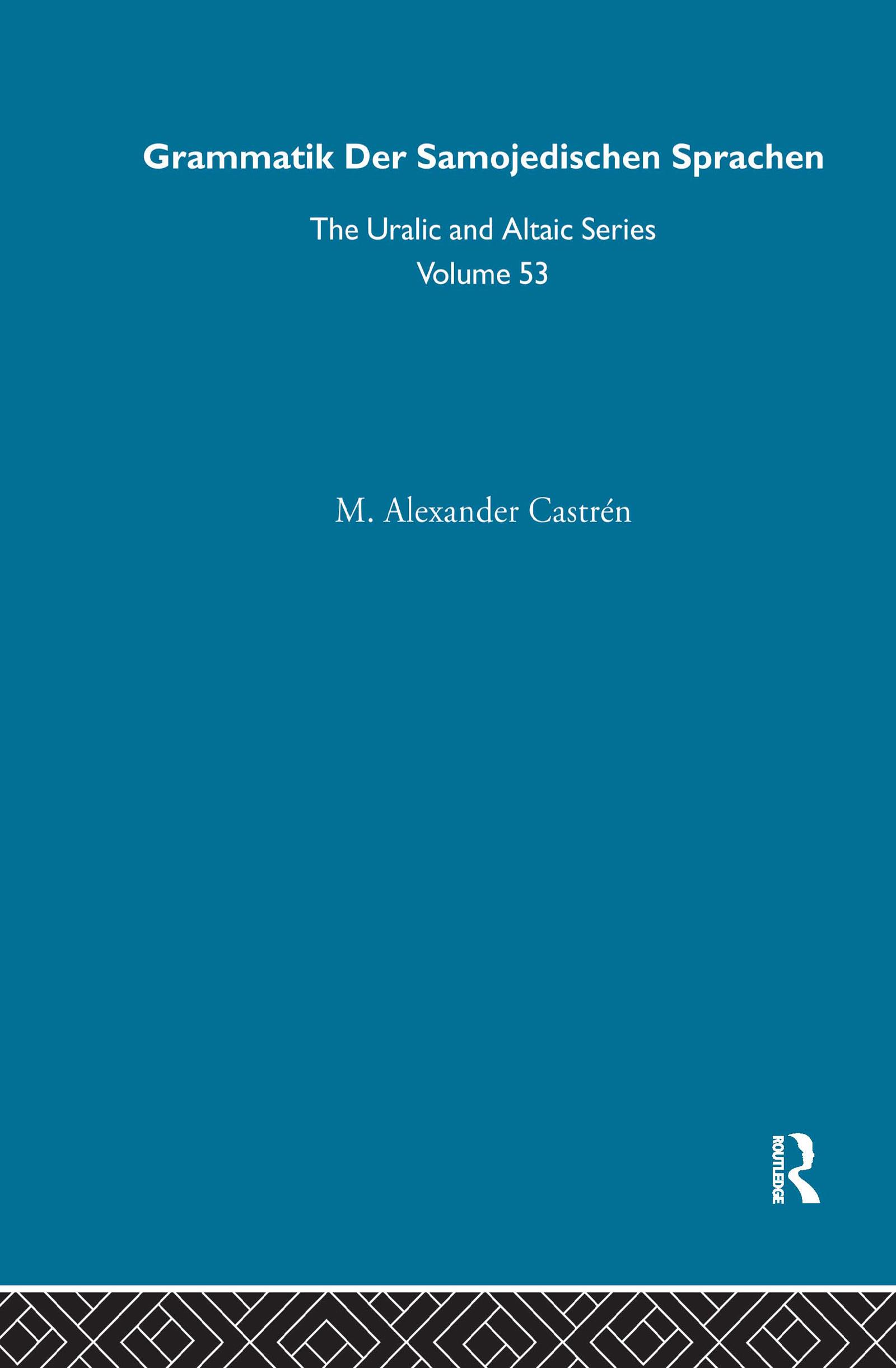 Grammatik der Samojedischen Sprachen (Hardback) book cover