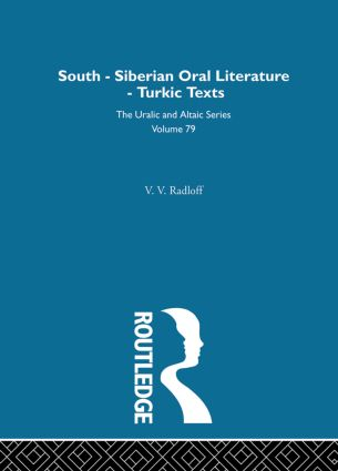 South-Siberian Oral Literature: 1st Edition (Hardback) book cover