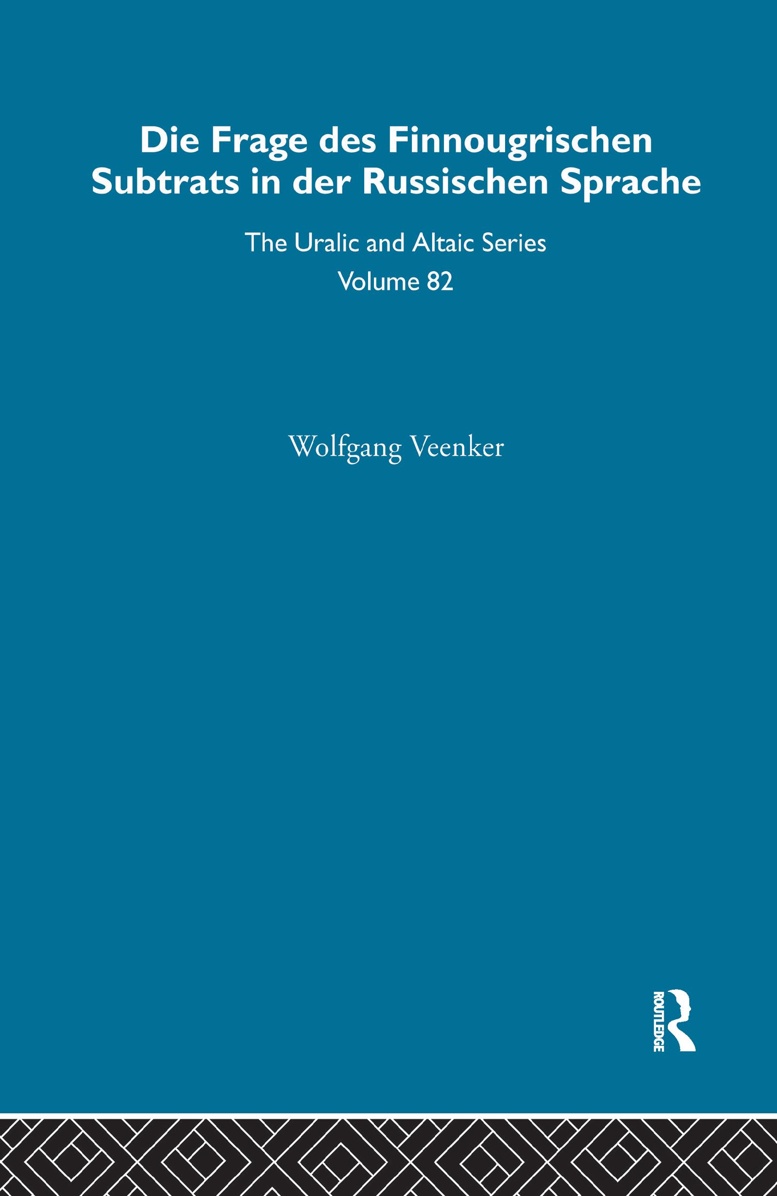 Die Frage Des Finnougrischen Substrats in der Russischen Sprache: 1st Edition (Hardback) book cover