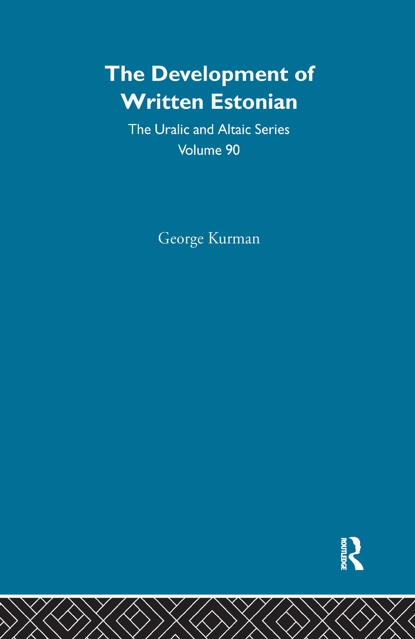 The Development of Written Estonian: 1st Edition (Hardback) book cover