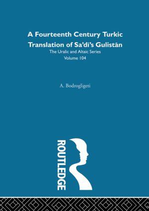 Sayf-i Sarayi's Gulistan Bi't Turki: 1st Edition (Hardback) book cover