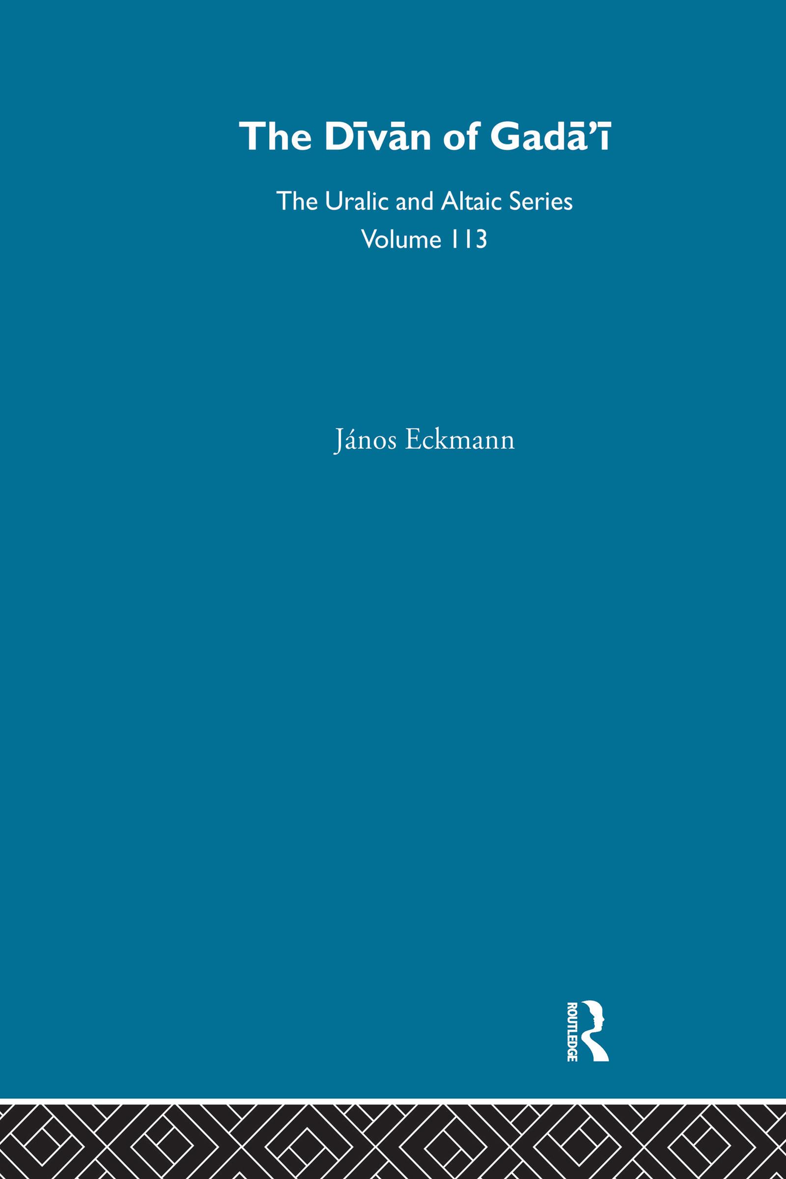 The Divan of Gadai: 1st Edition (Hardback) book cover