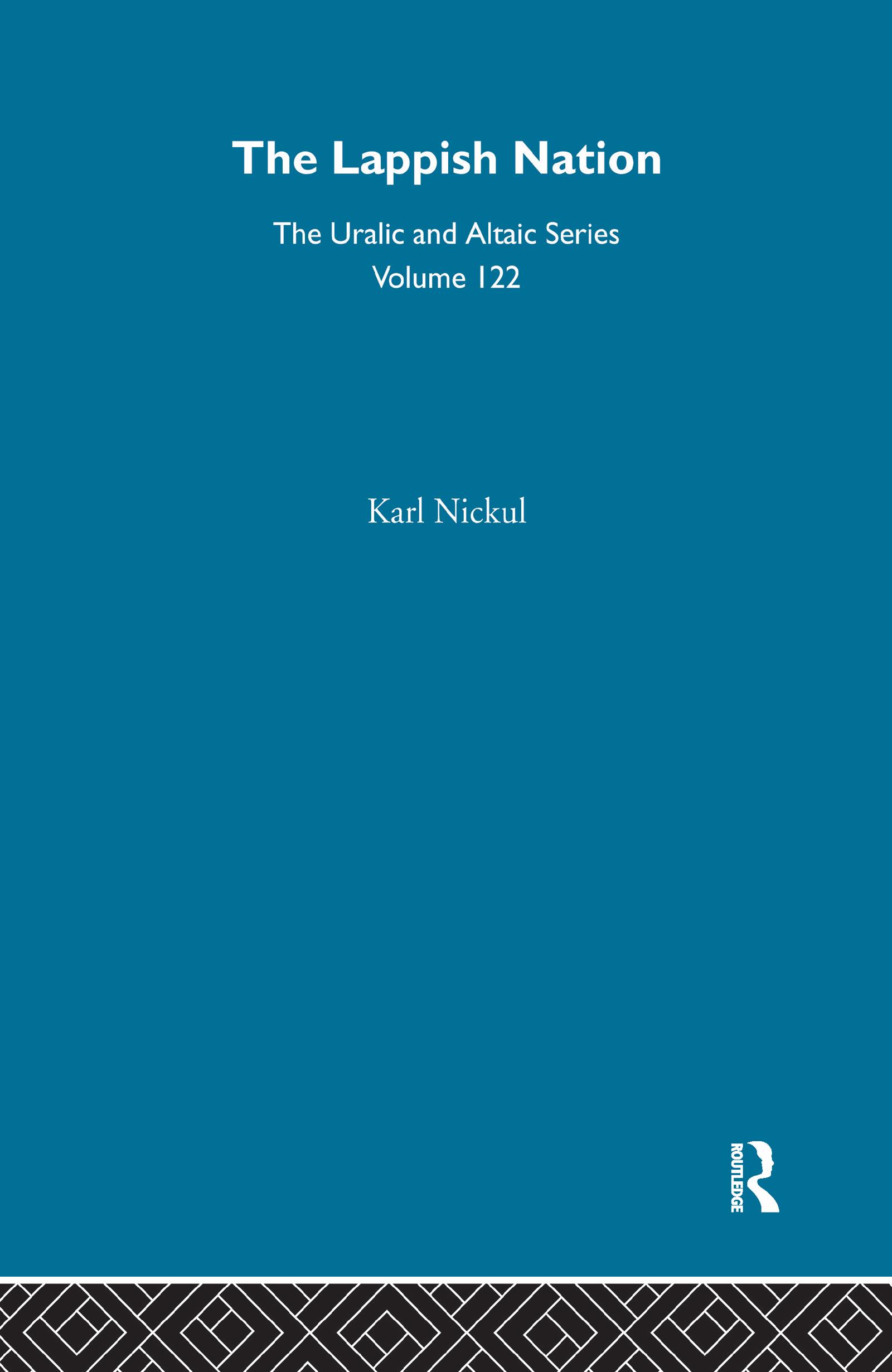 The Lappish Nation: 1st Edition (Hardback) book cover