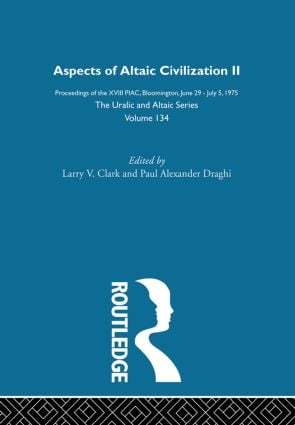 Aspects of Altaic Civilization II: 1st Edition (Hardback) book cover