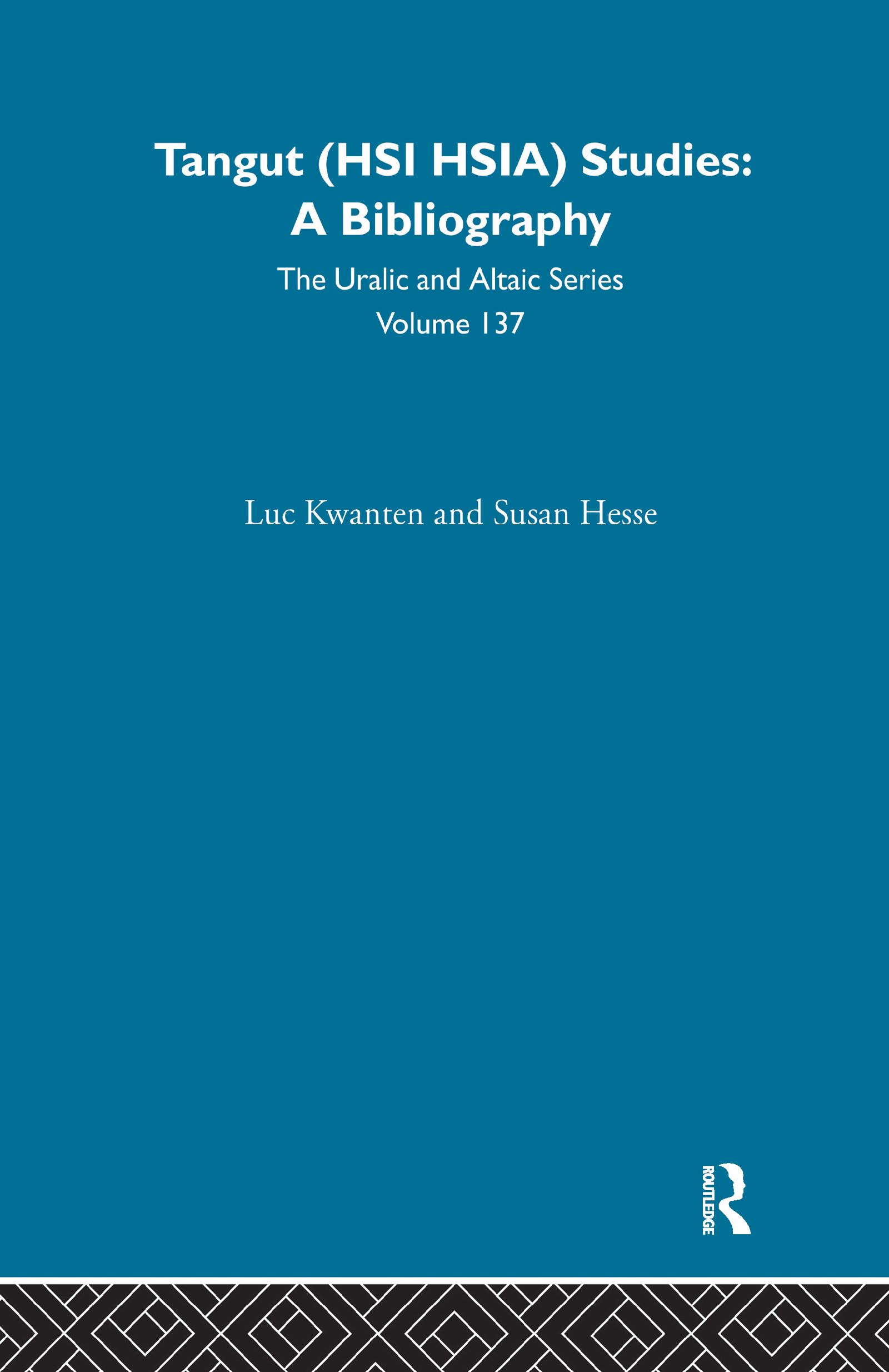 Tangut (Hsi Hsia) Studies: 1st Edition (Hardback) book cover