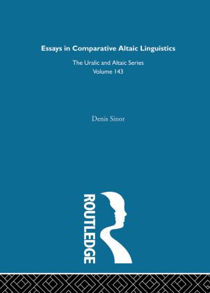 Essays in Comparative Altaic Linguistics: 1st Edition (Hardback) book cover