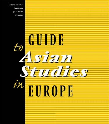 Guide to Asian Studies in Europe: 1st Edition (Paperback) book cover