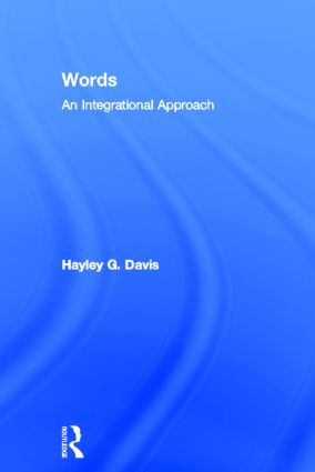 Words - An Integrational Approach (Hardback) book cover