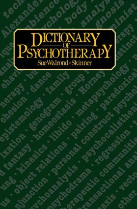 Dictionary of Psychotherapy: 1st Edition (e-Book) book cover